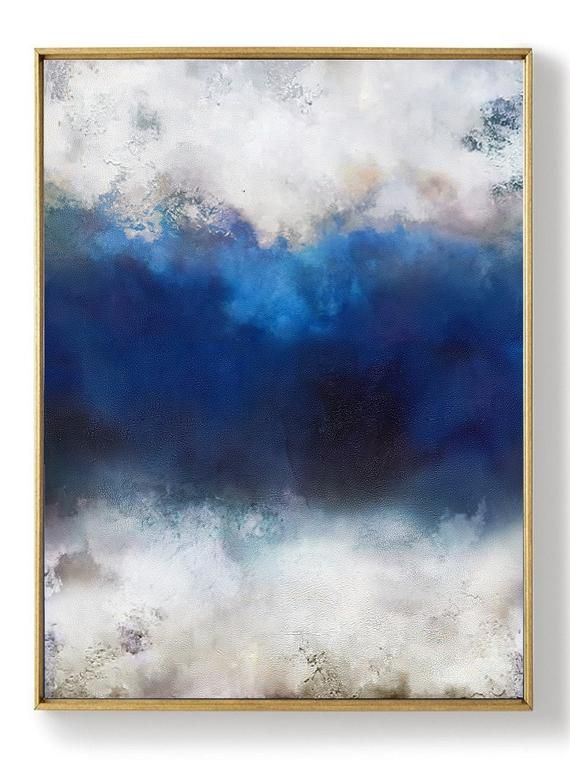 Original Abstract Art Paintinglarge Cloud Abstract Landscape Etsy Abstract Painting Abstract Art Landscape Abstract