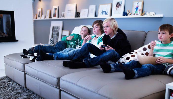 3 chaise-longue KIVIK unite per formare un grande divano