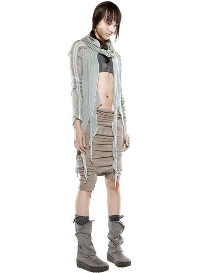 Demobaza Asymmetrischer Cardigan Aus Baumwolle Und