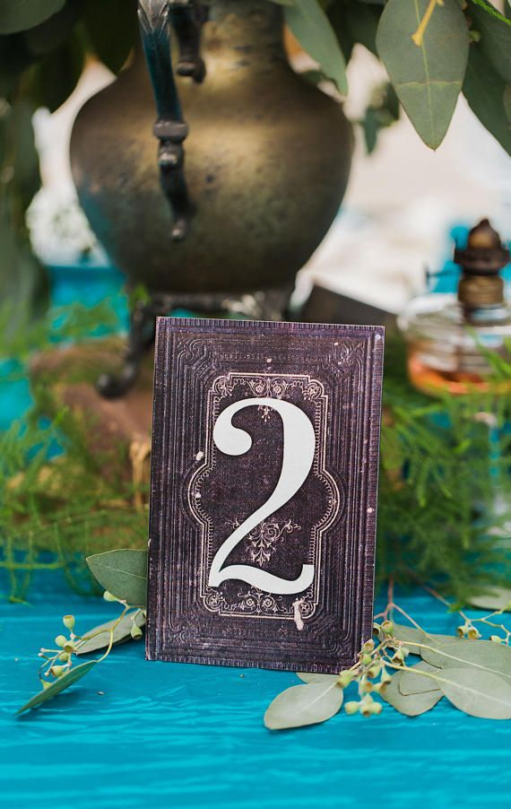 Wedding Table Numbers Book Style Number Standing Wedding Decoration Literary Book Centerpiece Numbers Fairytale Vintage Book (Item - BTN200)