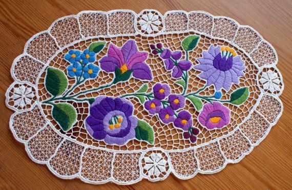 Wonderful hungarian embroidery Kalocsai by NeedleandMagic on Etsy