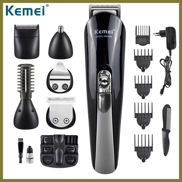 Kemei600 6 in 1 Hair Trimmer Titanium Hair Clipper Electric Shaver Beard Trimmer Men Styling Tools Shaving Machine 100-240v #HairTrimmer
