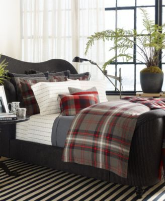 Inspired by a vintage blanket, this cotton percale duvet cover from Ralph Lauren is enlivened by a yarn-dyed plaid pattern. The handsome style looks wonderful mixed with bedding from the West Village