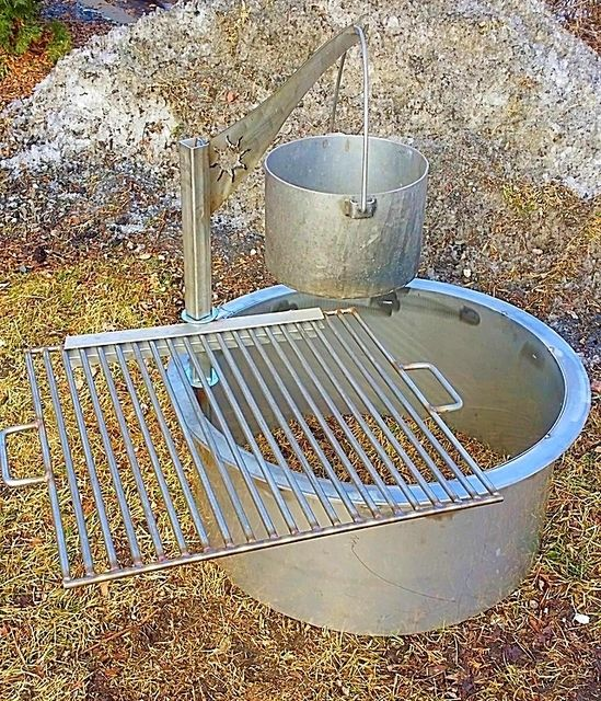 Amazing Fire Pit Liners Inserts Part - 8: None Stainless Stainless Fire Pit Liner-Grill-Pot Holder For Those Who Want  The
