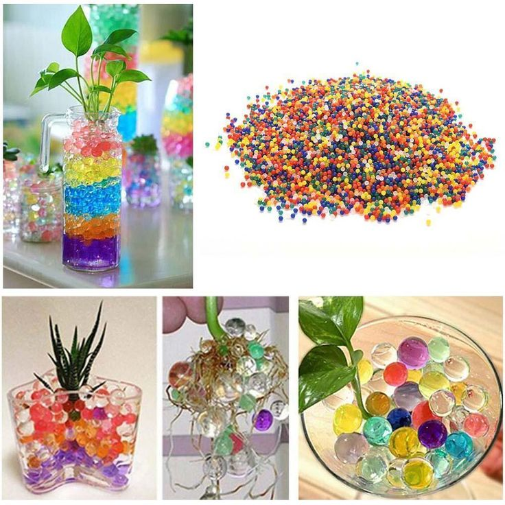 1000 Water Flower Jelly Crystal Soil Mud Water Pearls Gel Beads Ball Color Decor