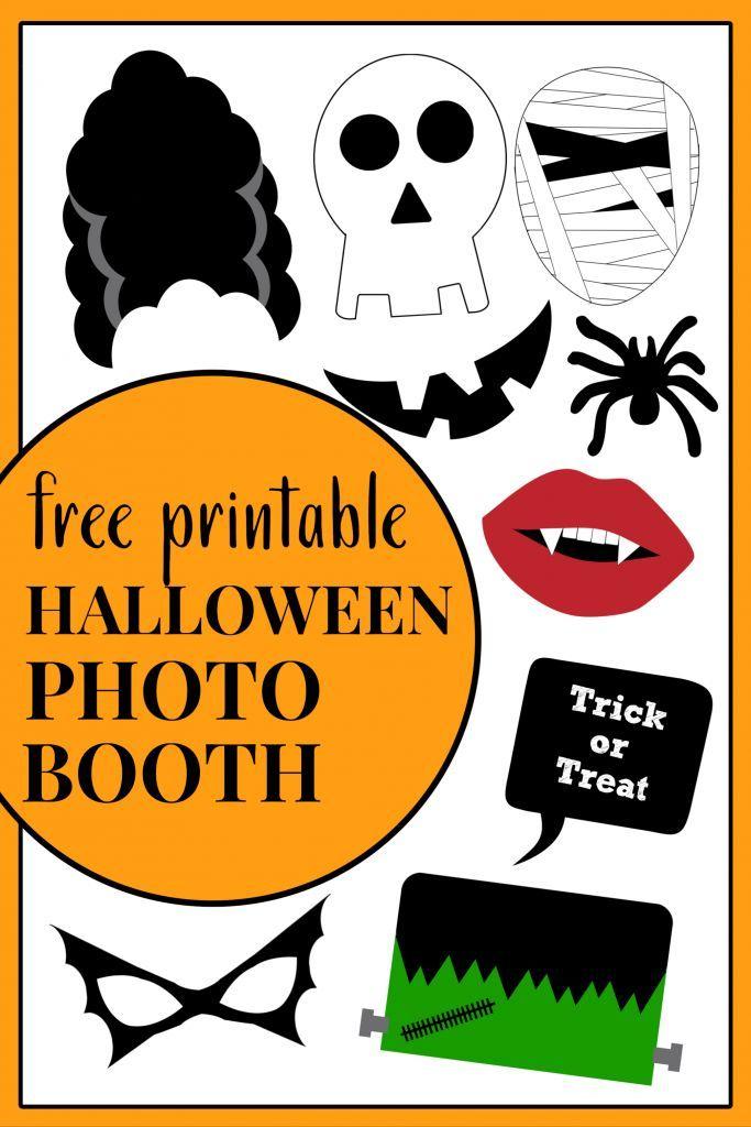 Free Printable Halloween Photo Booth Halloween Photo Booth