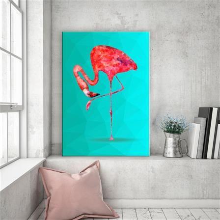 ACHICA | Hoxton Canvas - Tall Flamingo, Canvas Print, 60x40cm
