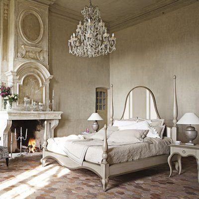 Love the idea of a fireplace in the bedroom and the stunning crystal chandelierModern Classic, Rustic Bedrooms, Glamorous Bedrooms, French Bedrooms, Bedrooms Design, Interiors Design, Master Bedrooms, Bedrooms Interiors, French Style