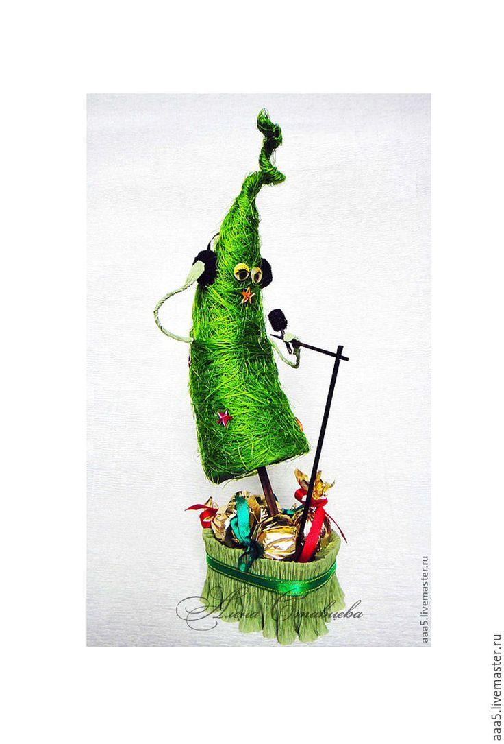 Купить Елка у микрофона - зеленый, елка новогодняя, новогодняя елка, елочка новогодняя, Новый Год