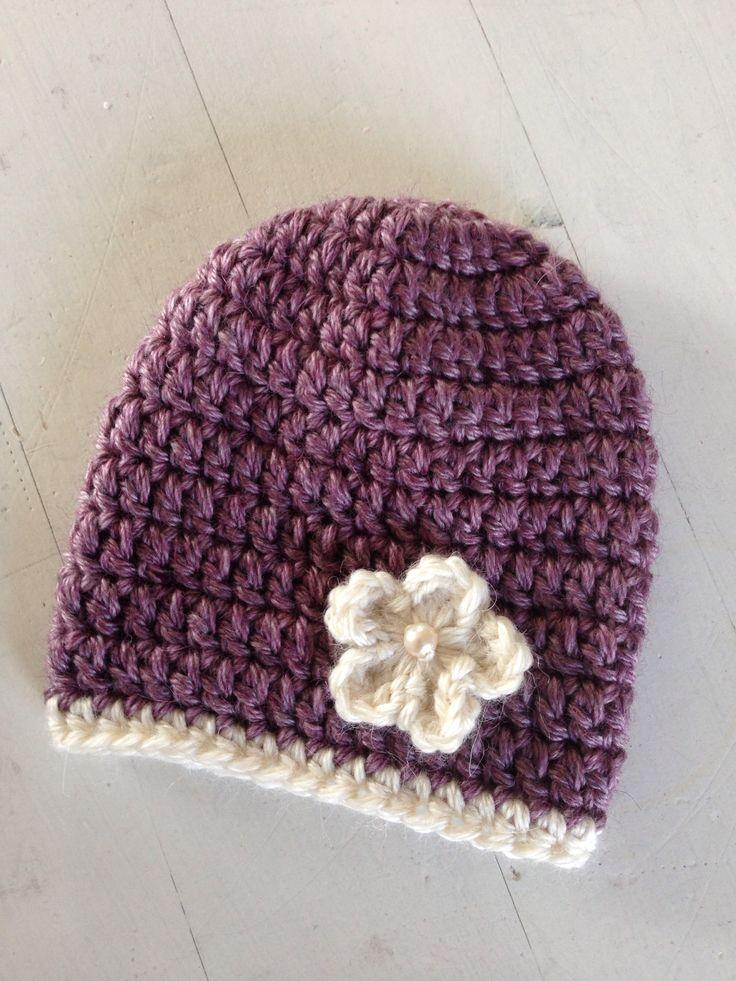 Heklet nyfødtlue / beanie #hekle #crochet