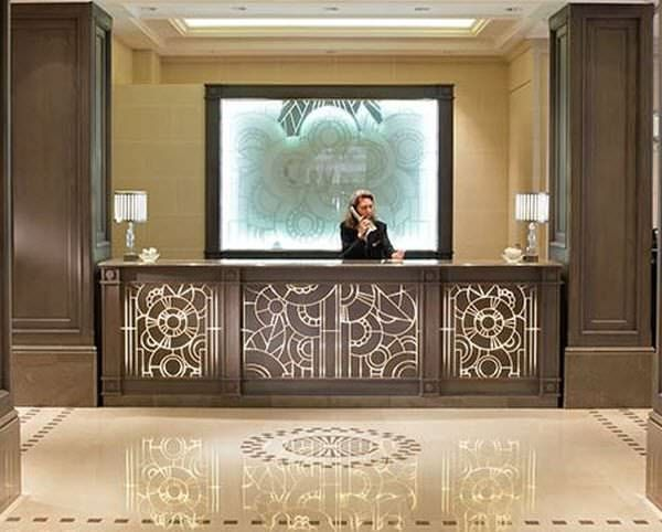 Wooden Reception Desk Inclusion Lamellux Id Project