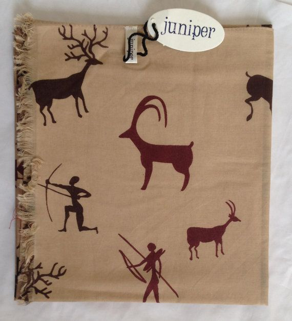 Deer print scarf in 100% cotton