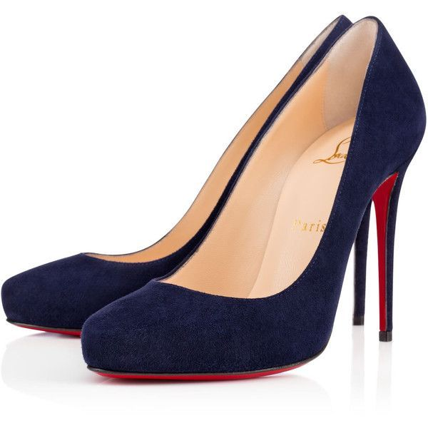 Christian Louboutin Ticopump (1,185 BAM) ❤ liked on Polyvore featuring shoes, pumps, heels, sapato, nuit, suede pumps, black pumps, black high heel shoes, heels & pumps and black suede pumps