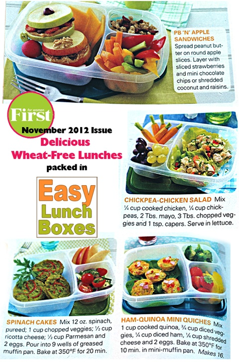 easylunchboxes featured in first for women magazine easy lunch box lunches pinterest. Black Bedroom Furniture Sets. Home Design Ideas