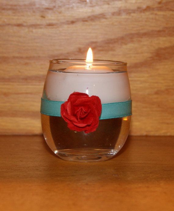 Turquoise Wedding / Wedding Votive Candle by CarolesWeddingWhimsy, This set of 6  Turquoise and Red Beach Wedding Votive Candle Holder are perfect for  a Destination Wedding, Spring Wedding, or Summer Wedding.  You can find them here https://www.etsy.com/listing/128218669/turquoise-wedding-wedding-votive-candle