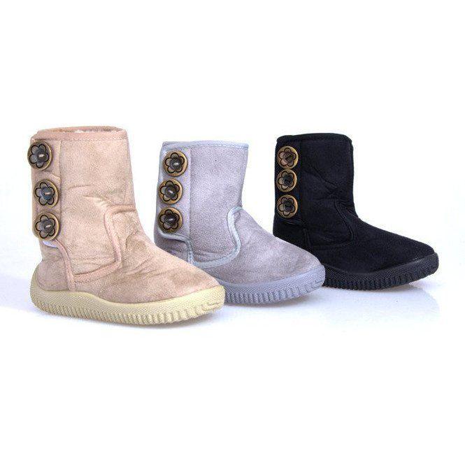 Eskimoski Dzieciece Unisex B 012 Szary Szare Boots Ugg Boots Uggs