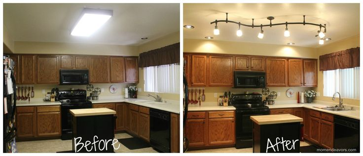 New kitchen lighting & simple upgrades make a big difference! #lowescreator