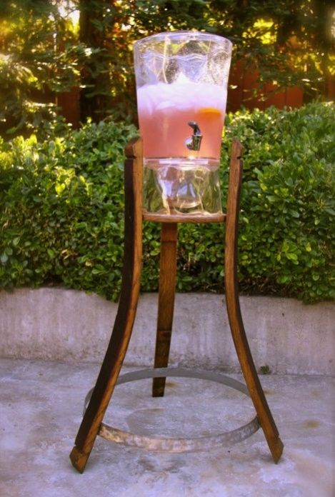 Wine Barrel Project Plant Stand