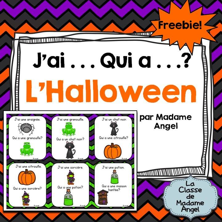 Halloween Freebie! Fun game to practice Halloween themed vocabulary!