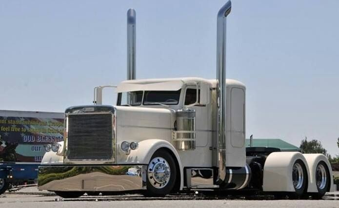 White custom Peterbilt 'Get er Loaded' #ReferATruck - LGMSports.com