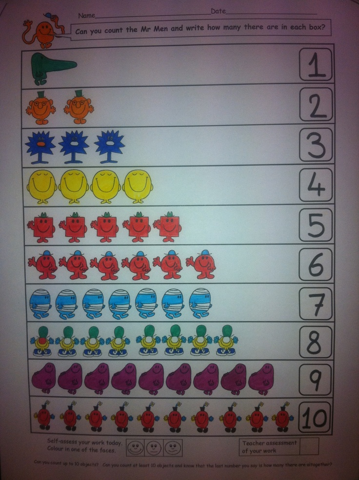 Count the Mr Men- 1 to 10