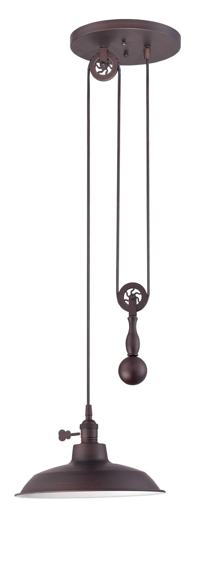 This is such a cool industrial light. Perfect for a rustic kitchen/island