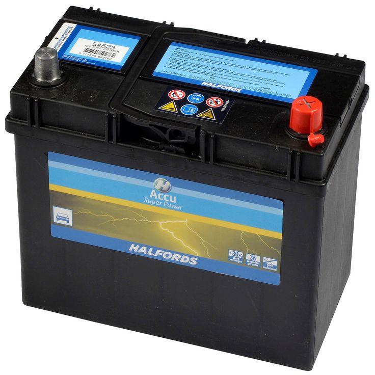 Halfords Accu Super Power 12 Volt / 45 Ampère  Description: Direct op weg met je nieuwe accu! Halfords accu Super Power 45 ampère is een startklare kwaliteitsaccu; met hoge startcapaciteit; ook bij lagere temperaturen. Geschikt voor diverse typen personenauto's. Deze onderhoudsvrije accu heeft een gesloten systeem en 30% meer startvermogen. Type 54523 (54577)  Price: 78.99  Meer informatie