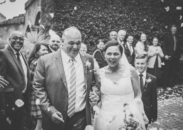 Black & White Confetti Toss - taken at the Bygracealone Wedding Venue, George, Garden Route, South African Weddings - Jacey Searra Photography