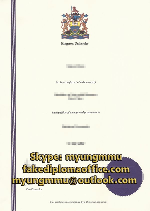 How To Buy Fake Kingston University Diploma High Quality Fake