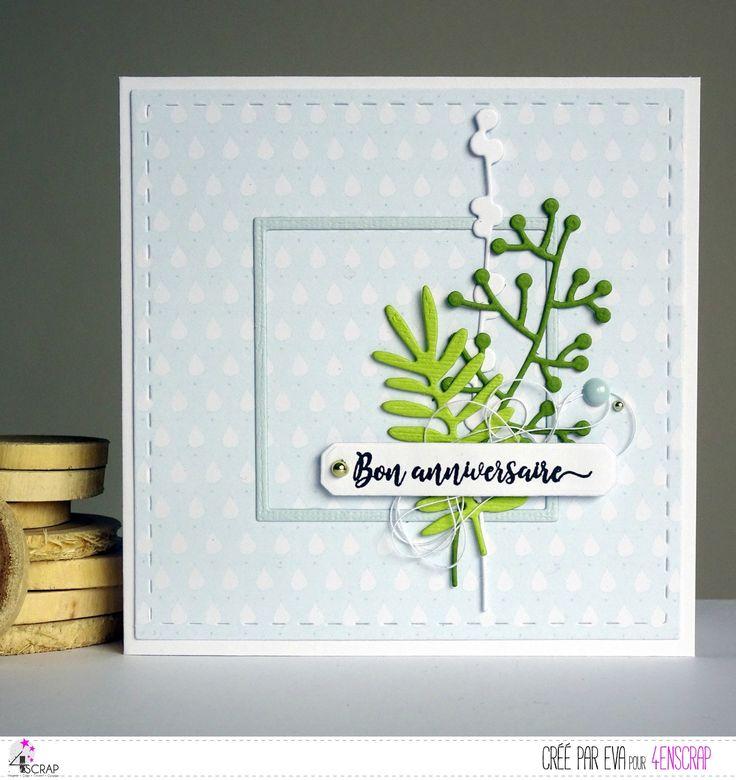 """Eva : Tampons et matrices de coupe (dies) #4enSCRAP """"Le temps d'un automne"""""""