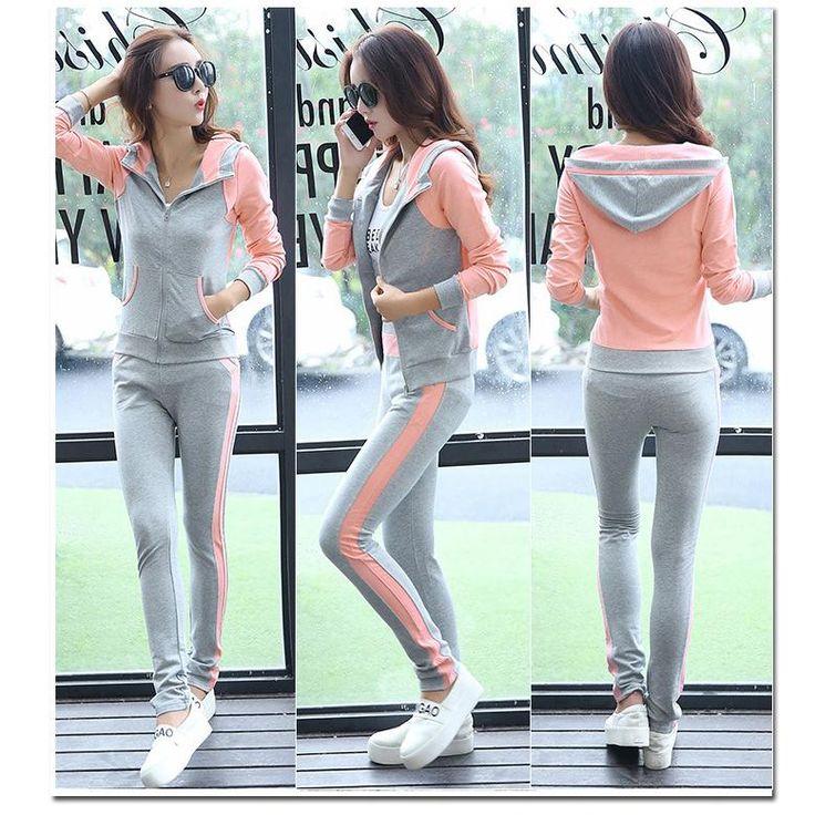 2016 New Fashion Causal Clothing 2Piece Women Hoodies Sweatshirt Sporting Suits Set Cotton Tracksuits Sportwear Plus Size