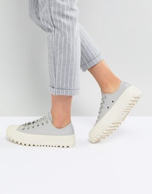 541e26c086d1a Image 1 of Converse Chuck Taylor All Star Lift Ripple Ox Sneakers In Pale  Gray
