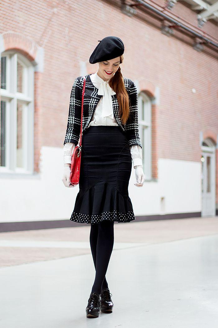 Peplum Rok Outfit -