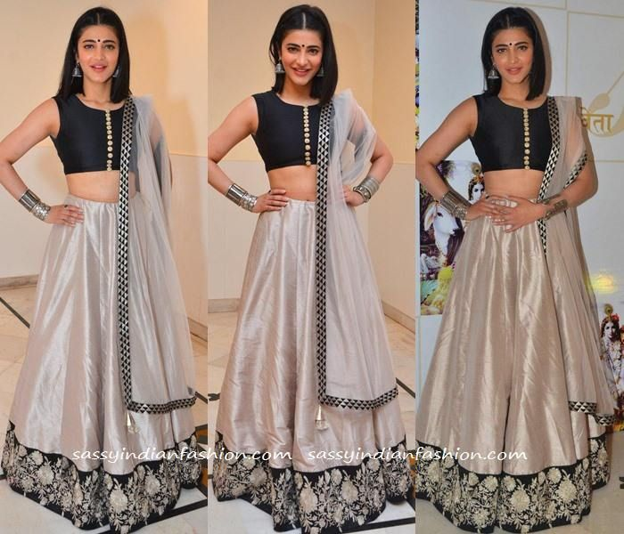 Shruti Hassan in Payal Singhal Lehenga