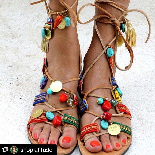 Bana bundan lazimm@nehir_sezginer @rukiyeserap  @aysilkoparal @ecemtunca #Repost @shoplatitude ・・・ #inspiration I am taking my @preekka #greek sandals and #decorating them with #indian #camel #tassels @shoplatitude #shoes #shop #sandals #india #summer #globalswag @violetgrey #bohemian #bohochic #bohostyle