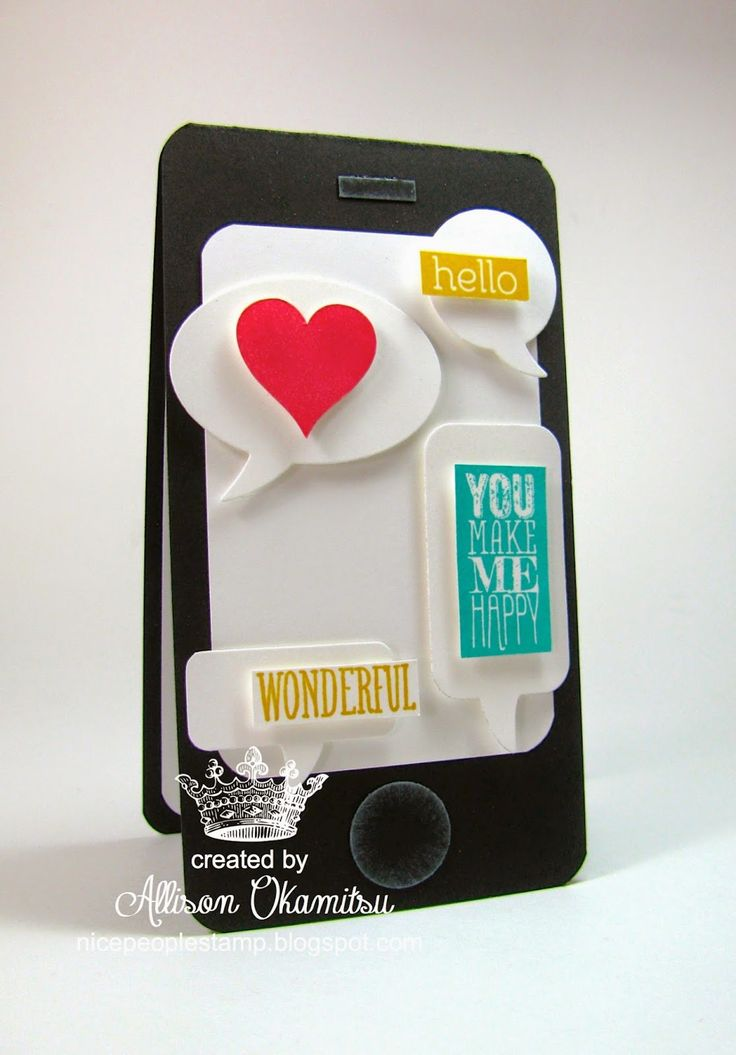nice people STAMP!: Perfect Pennants Smartphone Card - Stampin' Up! by Allison Okamitsu