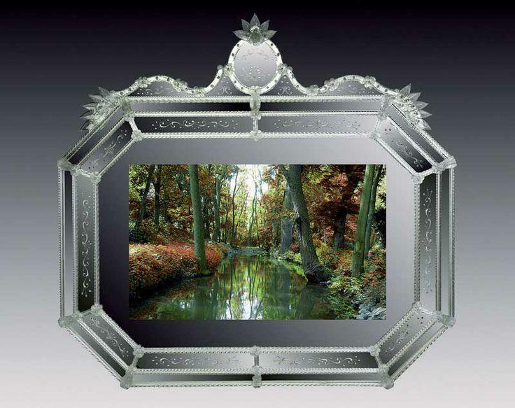 Specchi veneziani per nascondere schermo tv