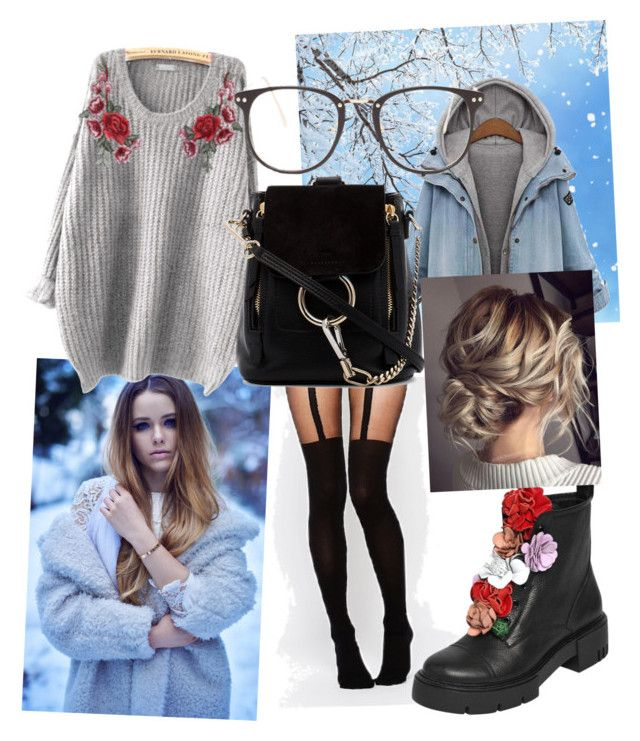 """School Outfit"" by drumeaclementina on Polyvore featuring ASOS, Chloé, Nasty Gal, Winter and school"
