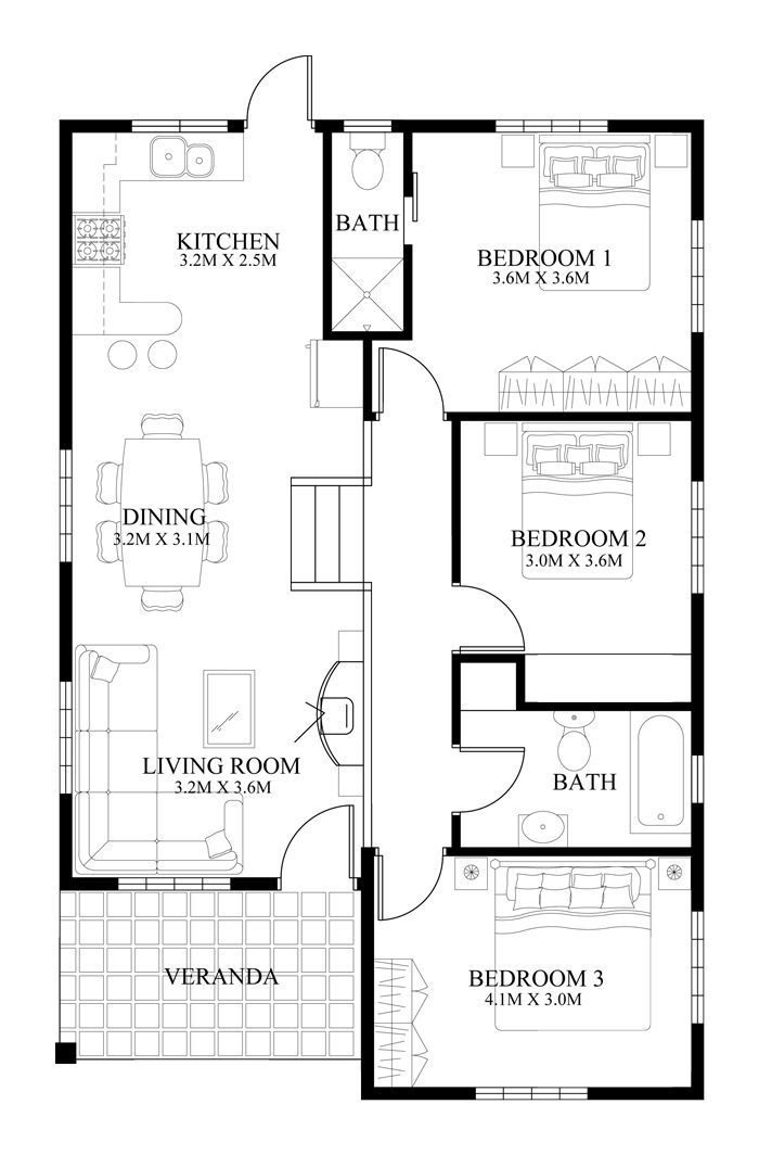 Small House Design 2014005 Pinoy Eplans Modern House Designs Small House Des Small House Design Plans Modern Small House Design Modern House Floor Plans