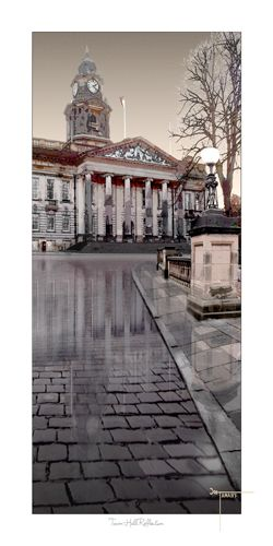 Lancaster Town Hall uk Reflection by Joseph Tamassy