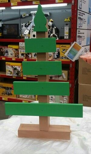 Made from 1 fence picket and a piece  of timber stock . Cut picket to 40cm 30cm 20cm 15cm and the top. (Or what ever size you want)  screw base together. Place 1 or 2 screws in each 'branch' (place 1 in centre to either have straight or angled ) . Paint . Merry Christmas   #diychristmas #christmas #christmastree