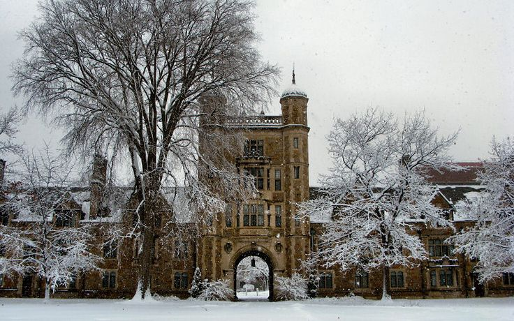 University of Michigan Campus Winter | University of Michigan Law School/Quad, Ann Arbor: Photos