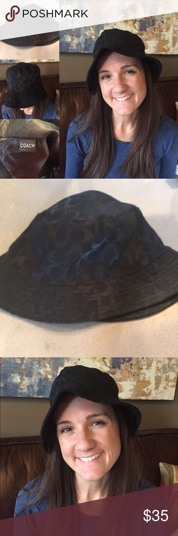 Gently Used Black Coach Hat Gently Used Black Coach Hat. No signs of wear, very cute! Coach Accessories Hats