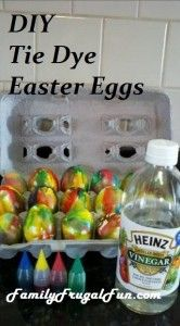 Tie-Dye Easter Eggs are so much fun & colorful! we do these every year! ☺