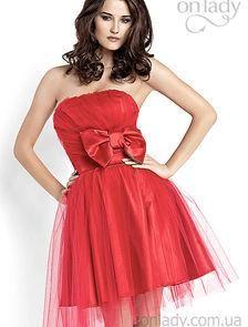 Фото бальное красное платье сзади с большим бантом