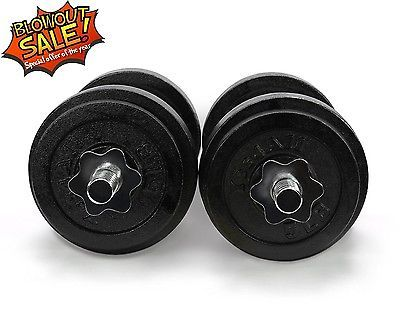 Yes4All Adjustable Dumbbell Set Weight Cap Fitness Gym - 60 lbs - D1IBH3D