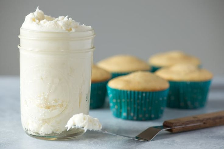 Marshmallow Fluff Makes the Easiest Buttercream Frosting EVER. You only need 2 ingredients other than powdered sugar to make this easy frosting. Great for cupcakes or cookies!