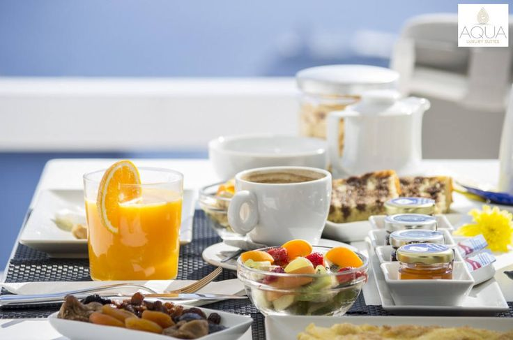 It's breakfast time! Wake up and whet your appetite with sumptuous delicacies! More at aquasuites.gr