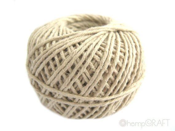 hemp+yarn | Natural Hemp Twine, 100% Premium Hemp Yarn, 200ft