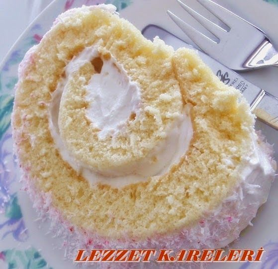 yetur'la lezzet kareleri: köpük kremalı -muz aromalı rulo pasta